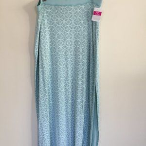 Fresh Produce seafoam green long skirt with slit